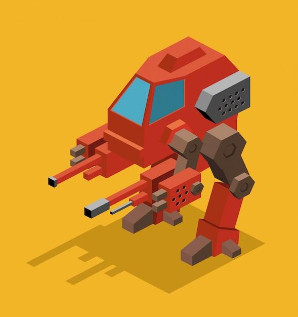 Mecha roboter Premium Vektoren