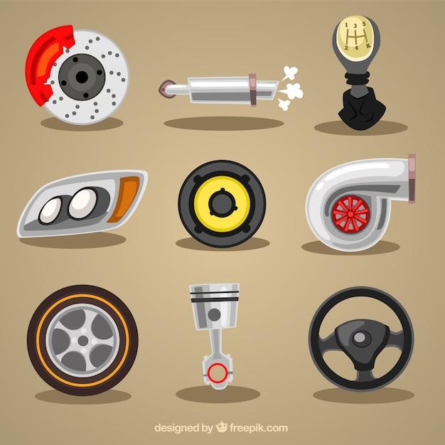 Mechanic elemente Kostenlosen Vektoren