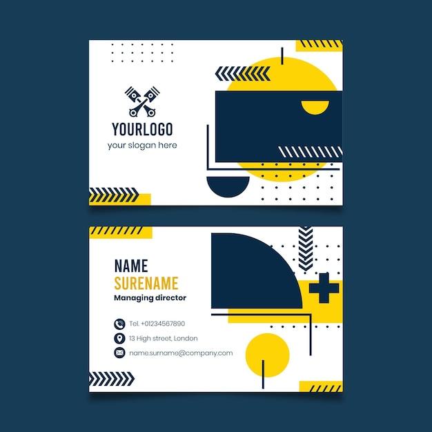 Mechaniker doppelseitige visitenkarte h Kostenlosen Vektoren