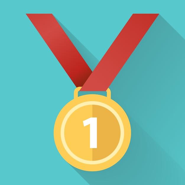 Medaille flache symbol Premium Vektoren