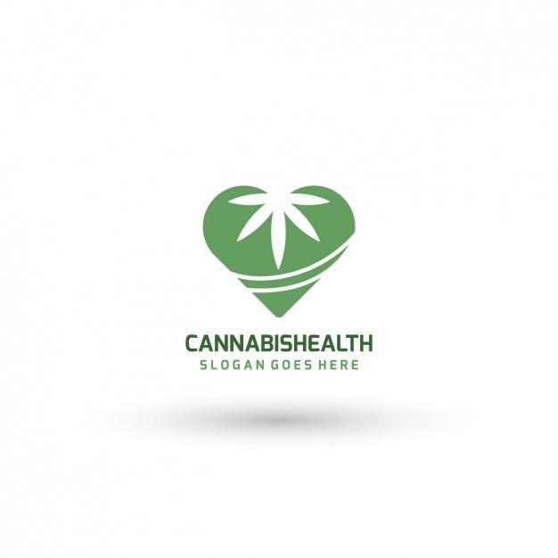 Medical cannabis logo-vorlage Kostenlosen Vektoren
