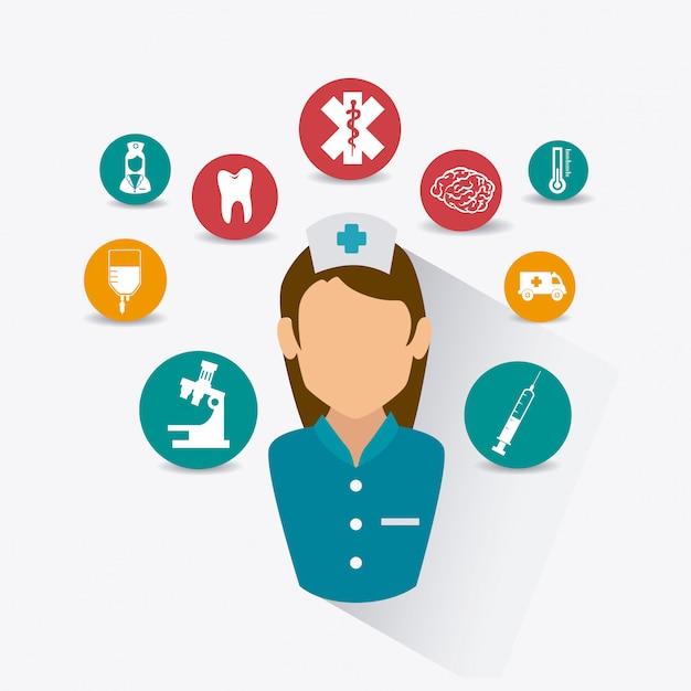 Medical healthcare design. Premium Vektoren
