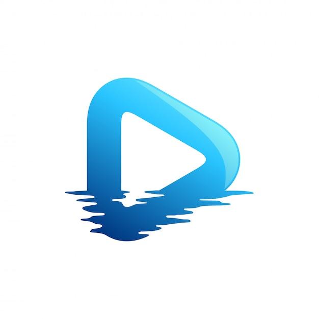 Medien logo design Premium Vektoren