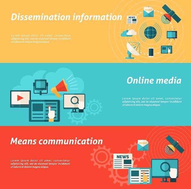 Medienbannersatz Kostenlosen Vektoren