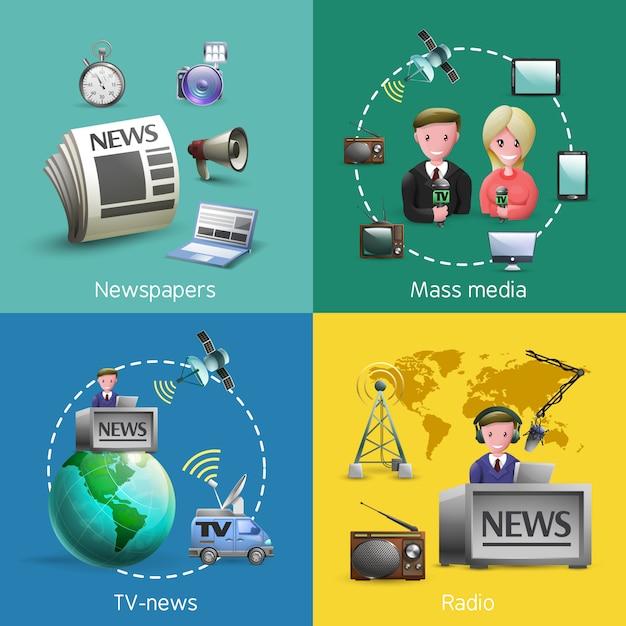 Medienbilder eingestellt Premium Vektoren