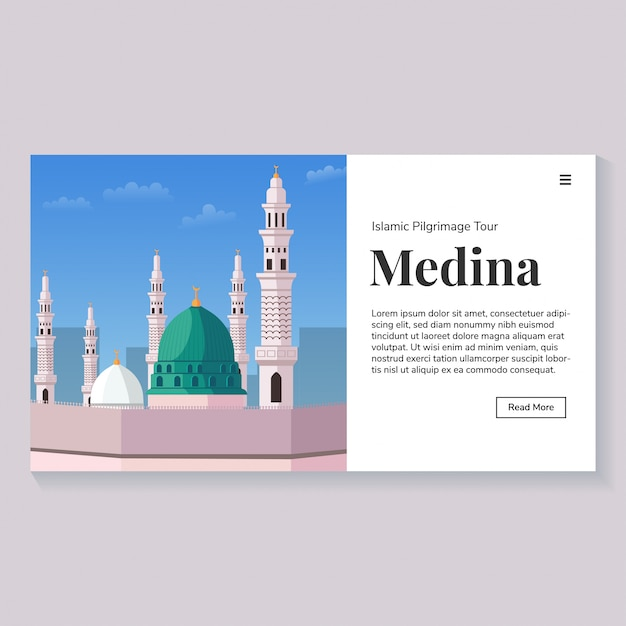 Medina landmark environment landing page Premium Vektoren