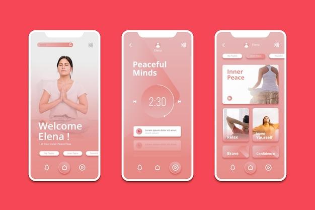 Meditations-app Premium Vektoren