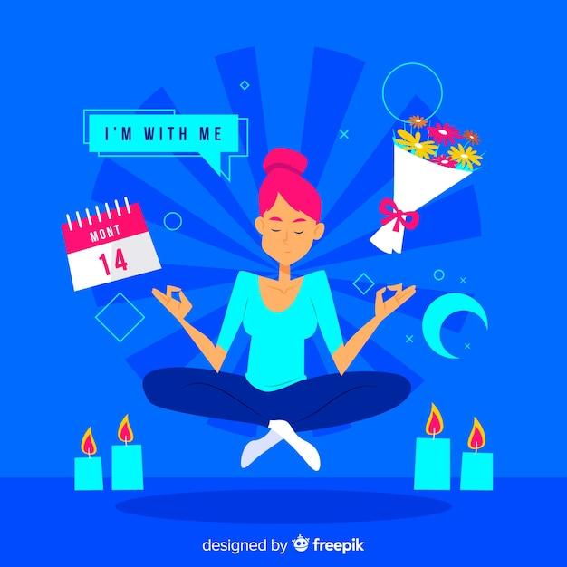 Meditationskonzept für landingpage Kostenlosen Vektoren