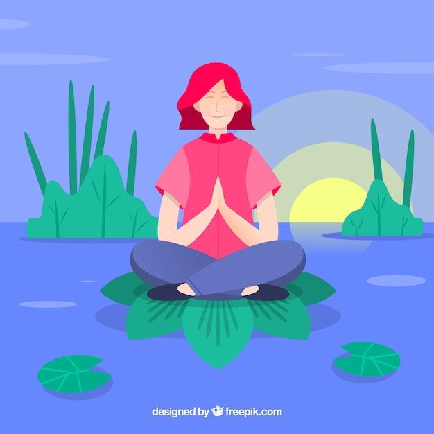 Meditationskonzept hintergrund Kostenlosen Vektoren