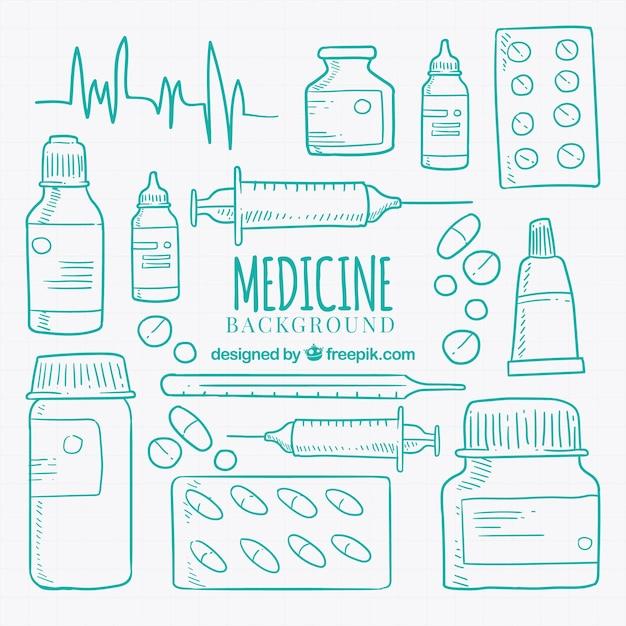 Medizin-elemente hintergrund Kostenlosen Vektoren