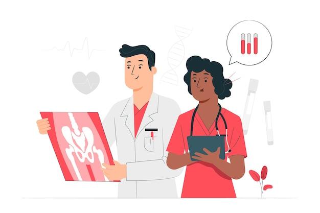 Medizin-konzeptillustration Kostenlosen Vektoren