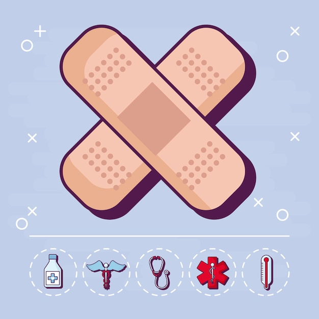 Medizin und medizin Kostenlosen Vektoren