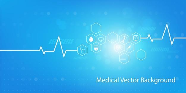 Medizin- und wissenschaftskonzepthintergrund Premium Vektoren