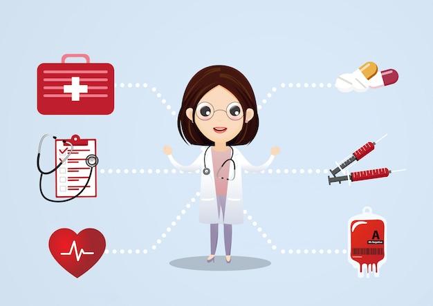 Medizinische beratung-vektor-konzept. medizinische beratung und unterstützung, illustration des medizinischen dienstes Premium Vektoren