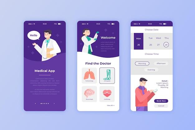 Medizinische buchungs-app für patienten Kostenlosen Vektoren