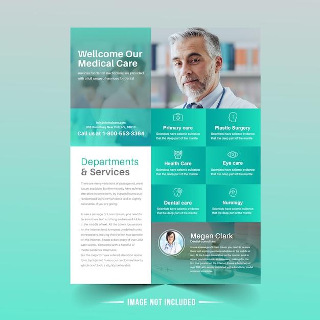 Medizinische flyer vorlage Premium Vektoren