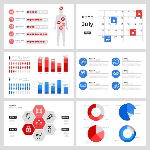 Medizinische gesundheitsversorgung infographik Kostenlosen Vektoren