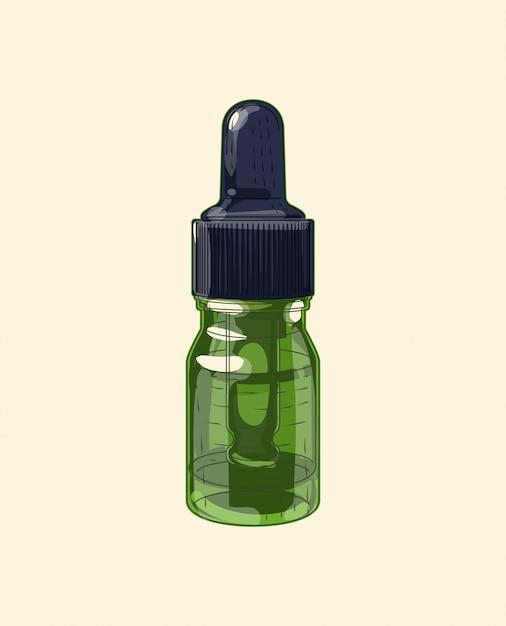 Medizinische grüne glas breite pipette Premium Vektoren