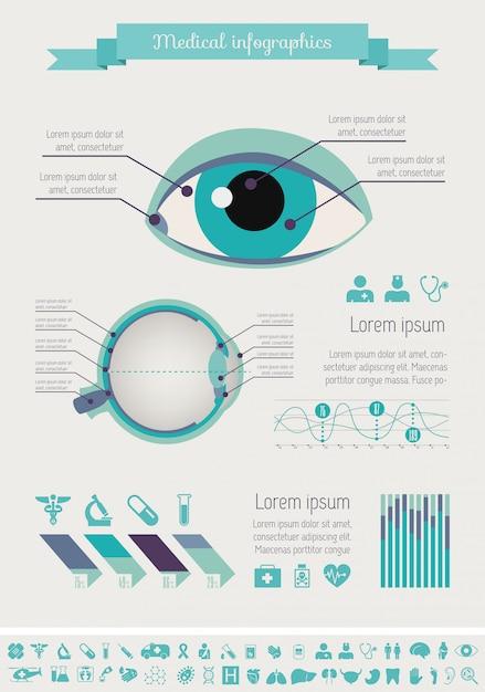 Medizinische infographik vorlage. Premium Vektoren