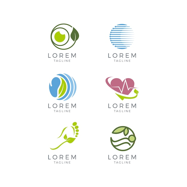 Medizinische Logosammlung Kostenlose Vektoren