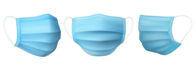 Medizinische maske, antiviraler und antibakterieller schutz Premium Vektoren