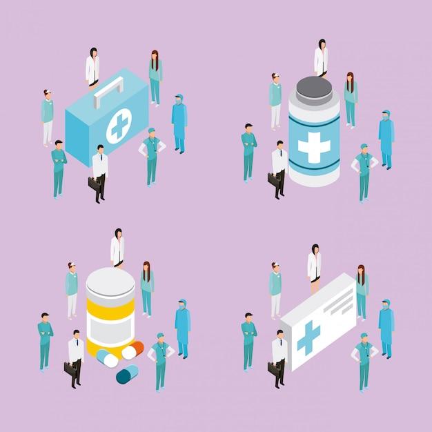 Medizinische menschen gesundheit zeichen Kostenlosen Vektoren