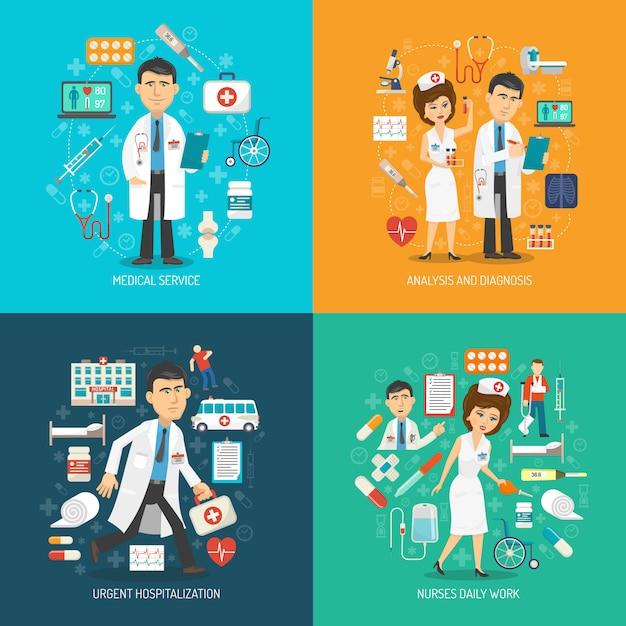 Medizinische versorgung konzept Kostenlosen Vektoren