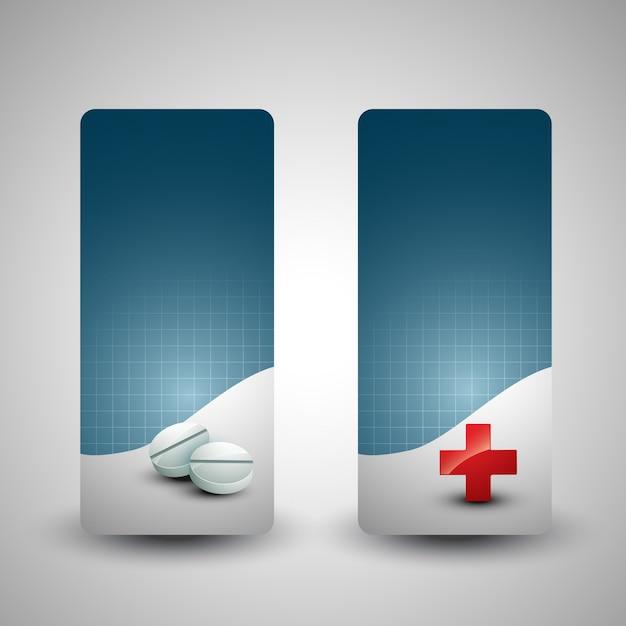 Medizinischen hintergrund satz von zwei Kostenlosen Vektoren