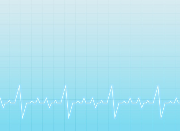 medizinischen und medizinischen Hintergrund mit Elektrokardiogramm Kostenlose Vektoren