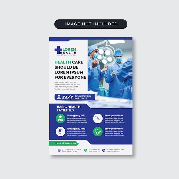 Medizinischer flyer Premium Vektoren
