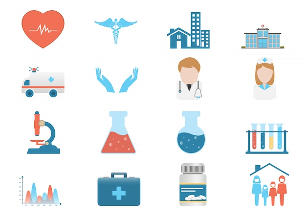 Medizinischer ikonenvektor Premium Vektoren