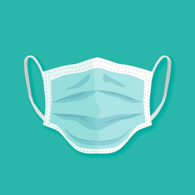 Medizinischer maskenstil des flachen designs Premium Vektoren
