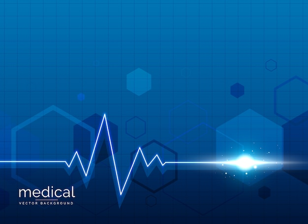 medizinischer medizinischer Hintergrund mit Herzschlaglinie Kostenlose Vektoren