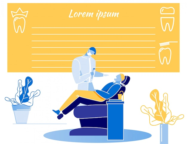 Medizinischer zahnarzt empty report form flat layout Premium Vektoren