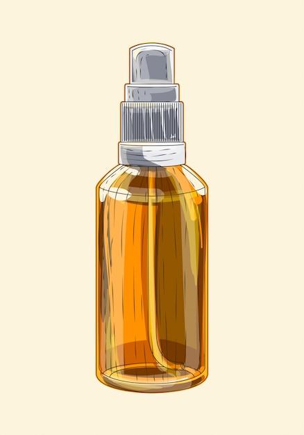 Medizinisches braunes glassprühgerät Premium Vektoren