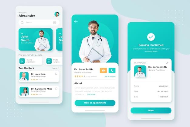 Medizinisches buchungs-app-konzept Kostenlosen Vektoren