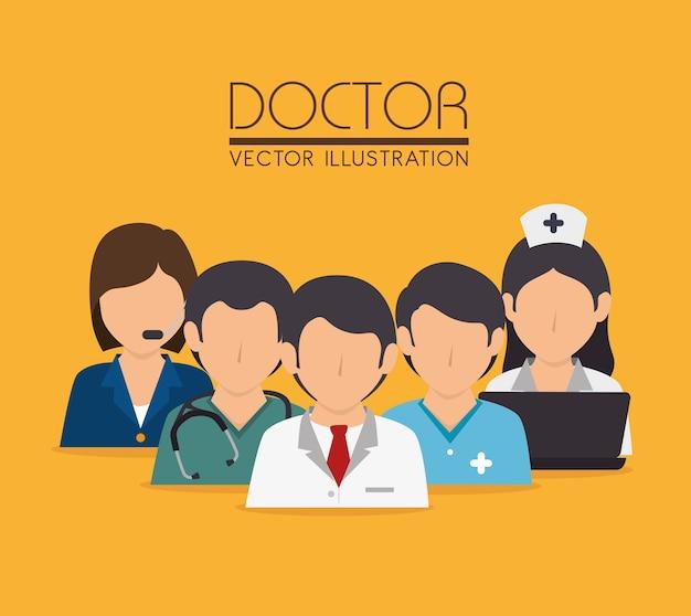 Medizinisches design, vektorillustration. Premium Vektoren