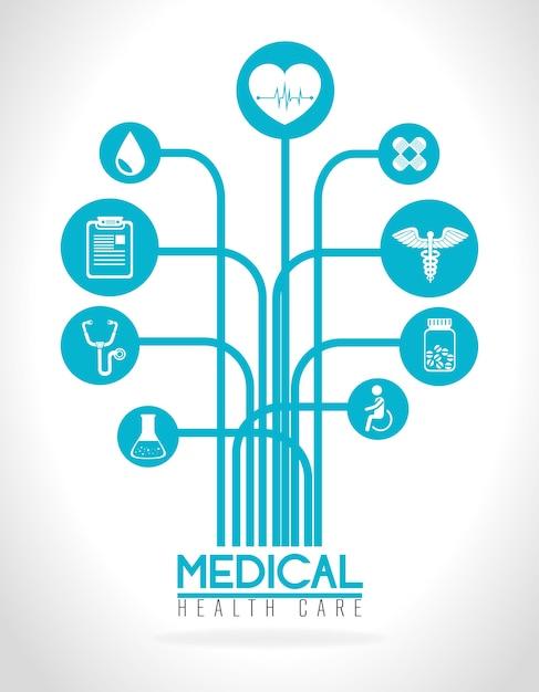 Medizinisches design. Premium Vektoren