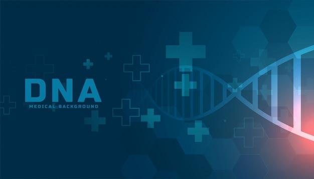 Medizinisches dna-strukturgesundheitshintergrunddesign Kostenlosen Vektoren
