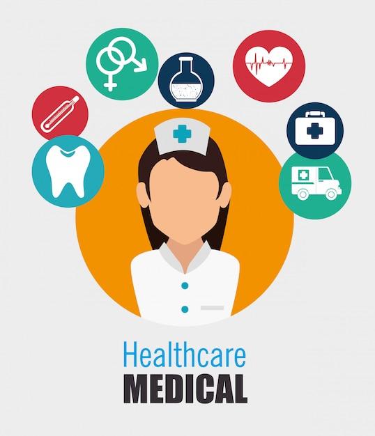 Medizinisches gesundheitsdesign. Premium Vektoren