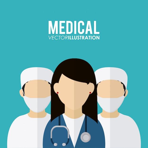 Medizinisches ikonendesign, vektorillustration Premium Vektoren