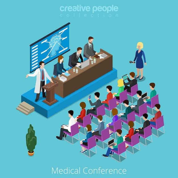 Medizinisches medizinisches gesundheitswesen internationales weltweites konferenzkonzept. Premium Vektoren
