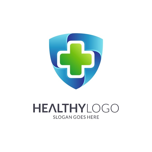Medizinisches schild-logo Premium Vektoren