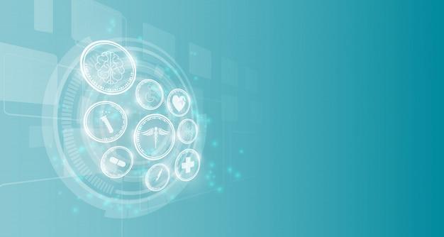 Medizintechnik innovation hintergrund Premium Vektoren
