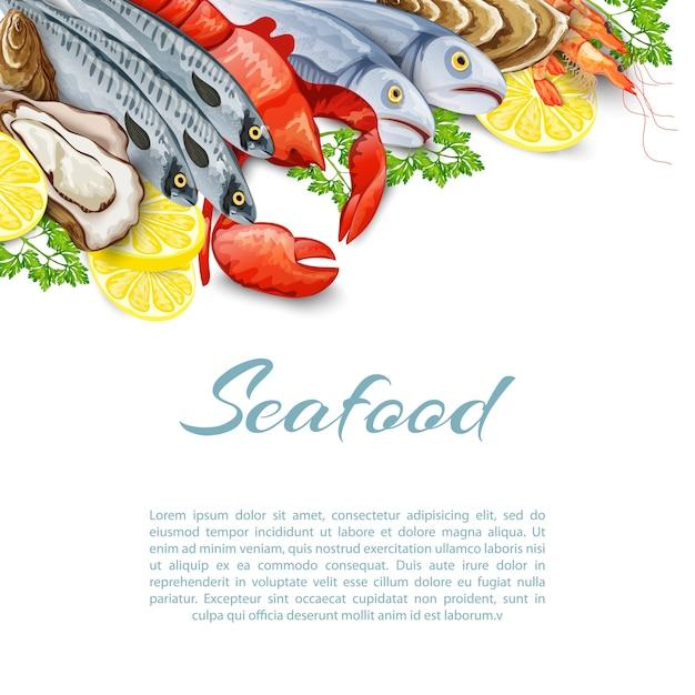 Meeresfrüchte-produkte hintergrund Kostenlosen Vektoren