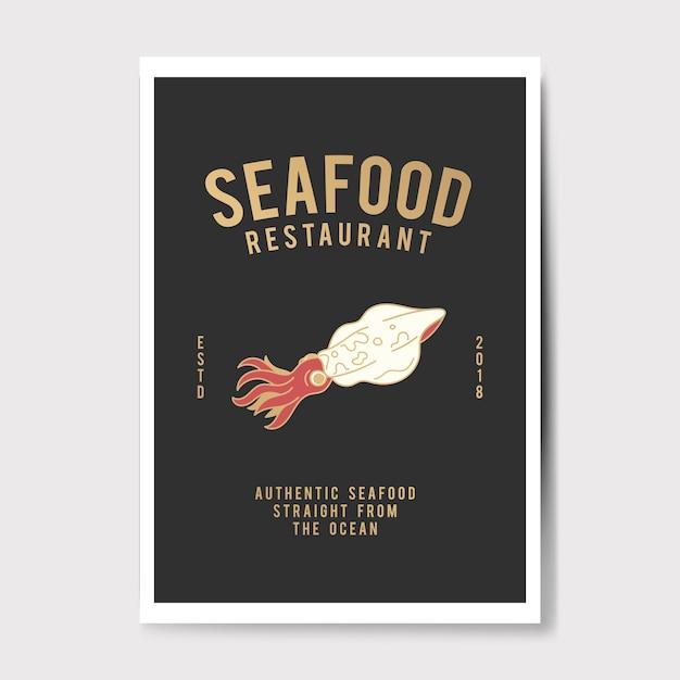 Meeresfrüchte restaurant logo abbildung Kostenlosen Vektoren