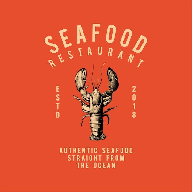 Meeresfrüchte restaurant logo design vektor Kostenlosen Vektoren