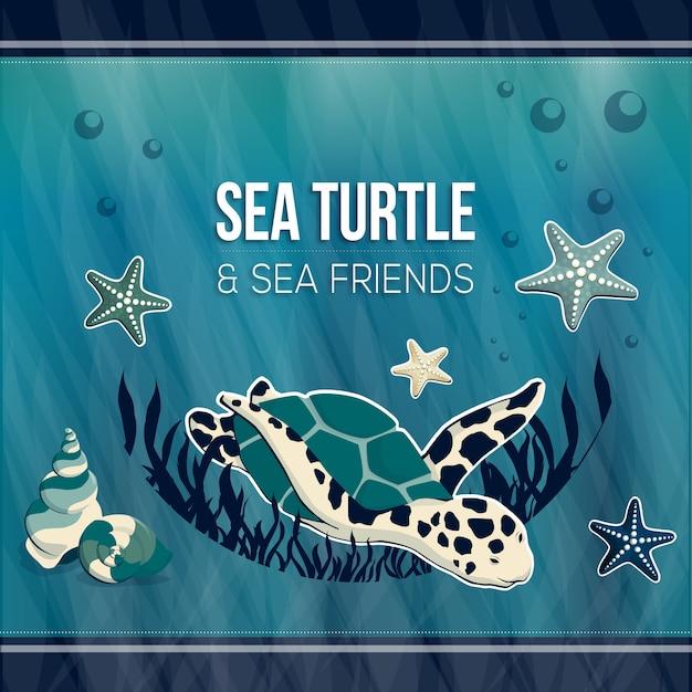 Meeresschildkröte Premium Vektoren