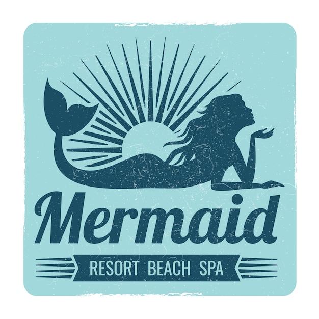 Meerjungfrau-logo-design Premium Vektoren