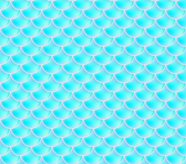 Meerjungfrau skalen. fisch squama. blaues nahtloses muster. farbe aquarell hintergrund. skalendruck. Premium Vektoren